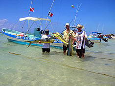 A Good catch - Fishing in Playa del Carmen Mexico